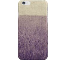 Purple field iPhone Case/Skin