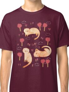 Orange Cat Pattern Classic T-Shirt