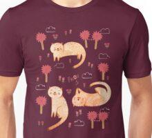 Orange Cat Pattern Unisex T-Shirt