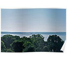 George Washingtons Backyard View of Mount Vernon Poster