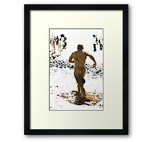 Running Away from Reality Framed Print