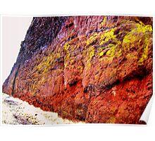 Rockface, Miocene Period, Oregon Poster