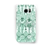 Owl Feathers in Mint Samsung Galaxy Case/Skin