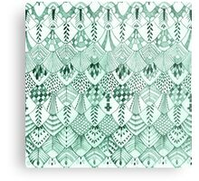 Owl Feathers in Mint Metal Print
