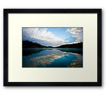 Lake Pink in Autumn Framed Print
