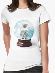 Snow Globe 6 Womens Fitted T-Shirt
