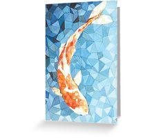 Koi Fish - geometric Greeting Card
