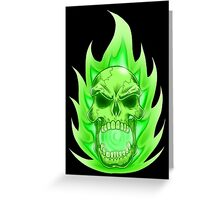 Soul Skull Green Greeting Card