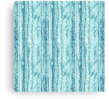 Braided in Teal Canvas Print