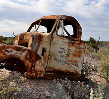 Rusted Work Beast - Lightning Ridge NSW Australia by Bev Woodman