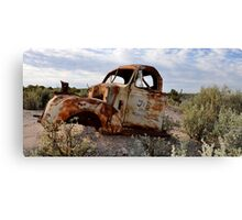 Rusted Work Beast - Lightning Ridge NSW Australia Canvas Print