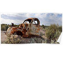 Rusted Work Beast - Lightning Ridge NSW Australia Poster