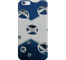 Saltire in the Rain iPhone Case/Skin