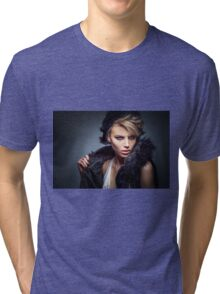 Erotic and nude art hot woman portrait Tri-blend T-Shirt