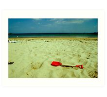 lonely red spade Art Print