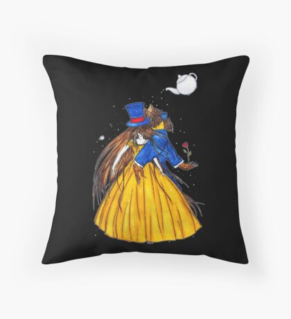 Who is the Mad Hatter ? Beauty and the Beast Throw Pillow