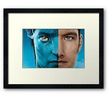 Man face portrait Framed Print