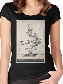 Shofu Enshuryu ikebana hamana no umi Flower Arrangement Toto Shoshi V3 1835 0019 Women's Fitted Scoop T-Shirt