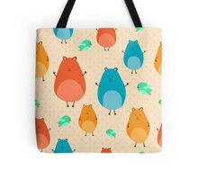 Cartoon funny hamsters Tote Bag