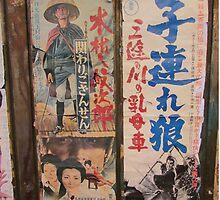 Tokyo Vintage Japanese Movie Posters under Yurakucho Railway Line Bridge by TokyoTokyo