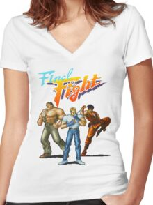 FINAL FIGHT CD Women's Fitted V-Neck T-Shirt