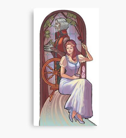 Rumpel and belle Canvas Print