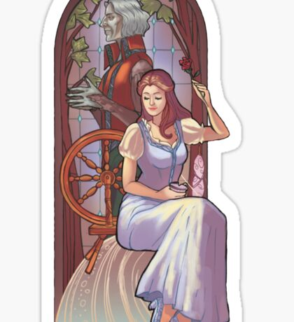 Rumpel and belle Sticker