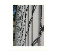 White Fence Art Print