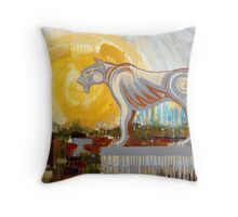 King Of The Concrete Jungle Throw Pillow