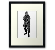 Anonymous Soldier Framed Print