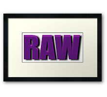 purple raw Framed Print
