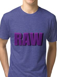 purple raw Tri-blend T-Shirt
