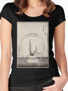 Shofu Enshuryu ikebana hamana no umi Flower Arrangement Toto Shoshi V2 1835 0002 Women's Fitted Scoop T-Shirt