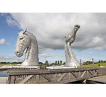 the Kelpies , Helix Park Photographic Print