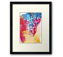 Bushido Kanji and colors Framed Print