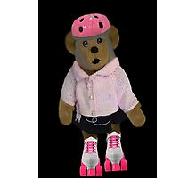 "。◕‿◕。 ""WHAT"" YOU DIDN'T KNOW TEDDY BEARS CAN ROLLER SKATE WELL YOUR LOOKIN AT ONE!!..PILLOWS,TOTE BAG,PICTURE,BOOKS,CARDS,。◕‿◕。  Photographic Print"