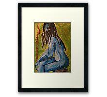 Blue Vampire Framed Print