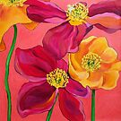 Red & Yellow Poppies by marlene veronique holdsworth