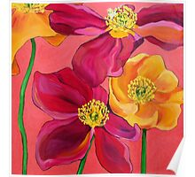 Red & Yellow Poppies Poster