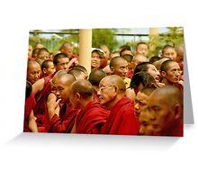 gathering. mcleod ganj, northern india Greeting Card