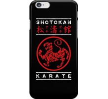 Shotokan Karate (white text) iPhone Case/Skin