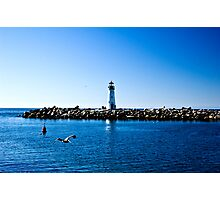 Lighthouse Flyby Photographic Print