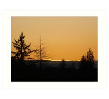Pacfic Northwest Sunset Art Print