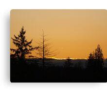 Pacfic Northwest Sunset Canvas Print