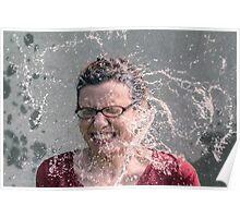 Woman face rain Poster