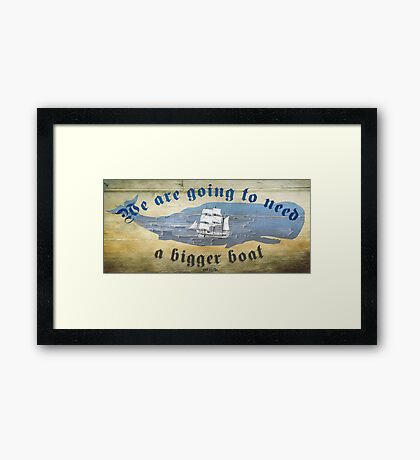 Moby Dick Framed Print