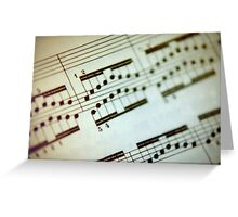 A More Musical Piece Greeting Card