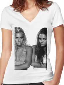 TWiNS Women's Fitted V-Neck T-Shirt