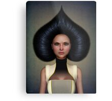 Queen of spades portrait Metal Print