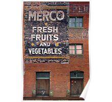 Merco Fresh Fruits Poster